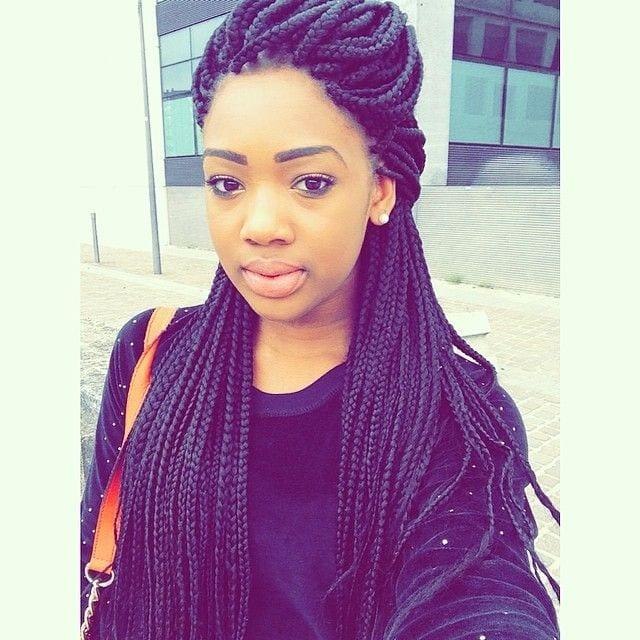 Crochet Braids O Que E : mulher negra com box braids, black woman with box braids, cabelo afro