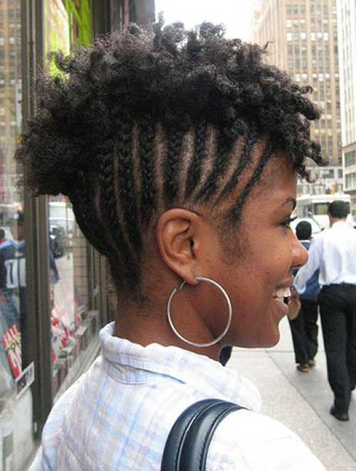 curly natural hair Braided Short Hairstyle penteado tranças cabelo curto crespo 1