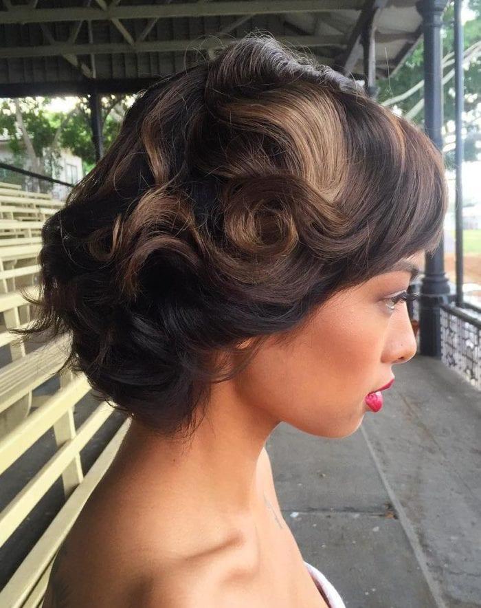 Resultado de imagem para penteado retrô em cabelo afro