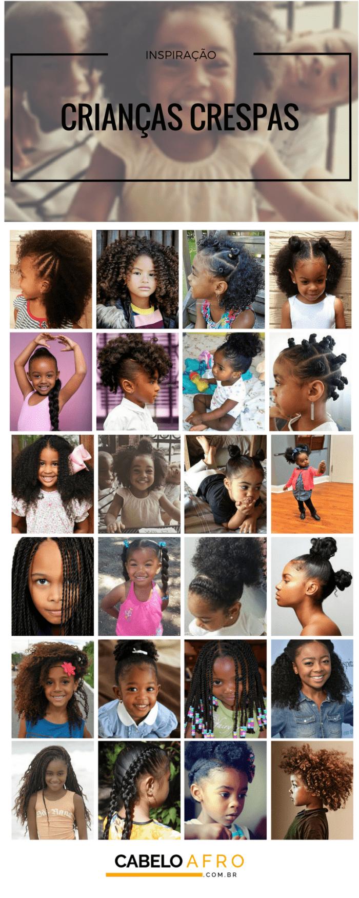 cuidados com cabelo crespo de criança