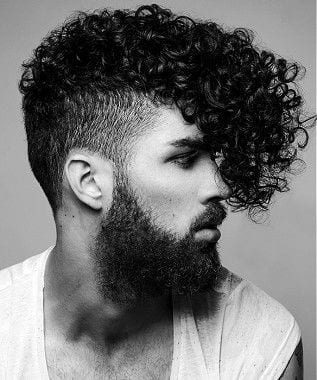Cortes de cabelo afro masculino crespo longo com franja 1 4271182 5260541