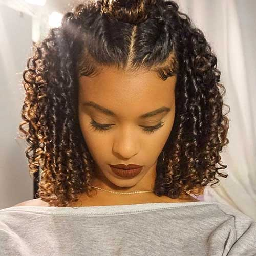 curly natural hair Braided Short Hairstyle penteado tranças cabelo curto crespo 9