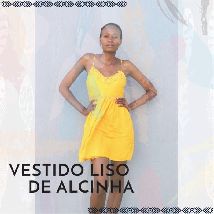 VESTIDO LISO - VESTIDO DE ALCINHA