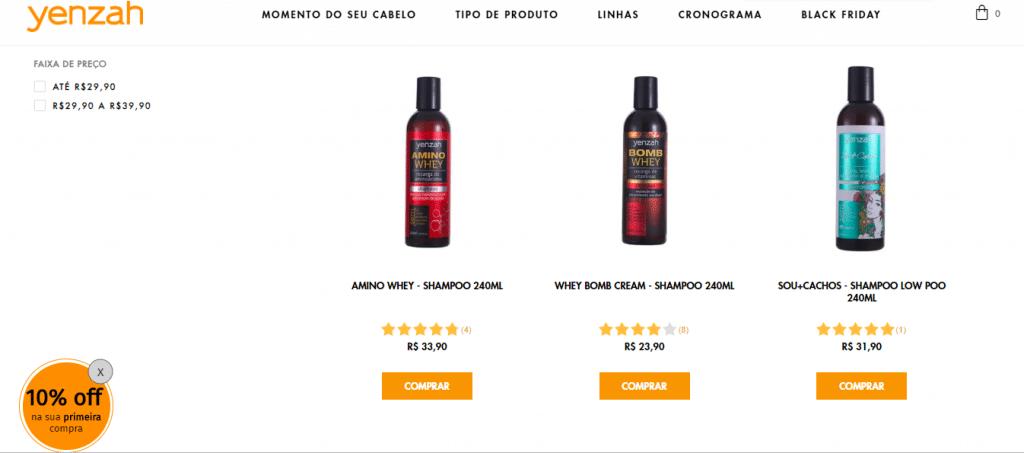 yenzah - shampoo sem sulfato