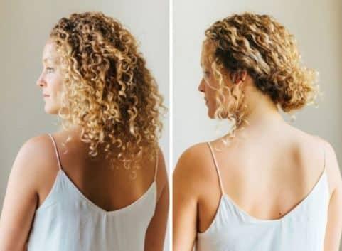 Penteado para cabelo cacheado