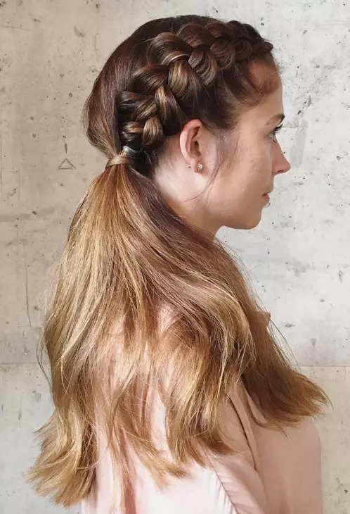 Penteado trança lateral